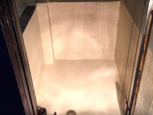 エレベーターピットの漏水がストップ