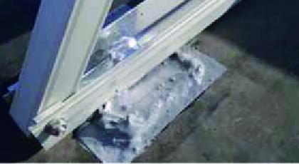 太陽光パネルからの漏水を補修