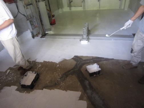 カーリフト止水防水工事